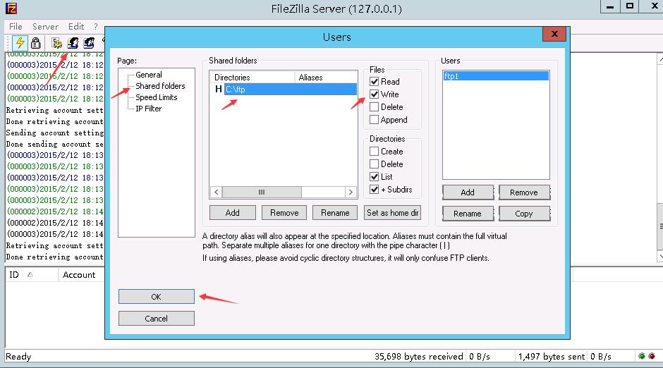 FTPFileZilla Server550 Permission Denied Web Windows ECS