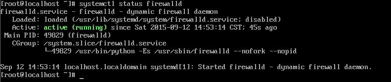 查看firewalld服务状态