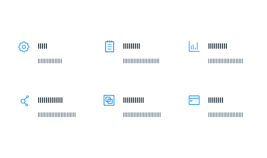 Example of repetitive design elements