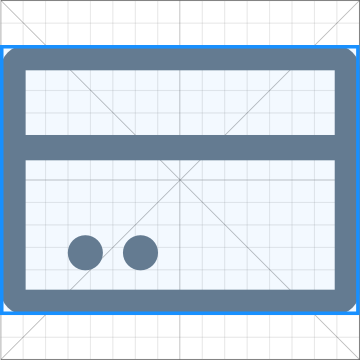 Horizontal rectangle contour